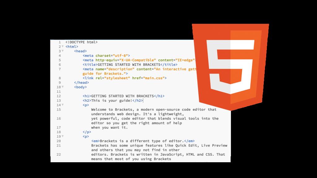 HTML fundamentals and advanced training course logo
